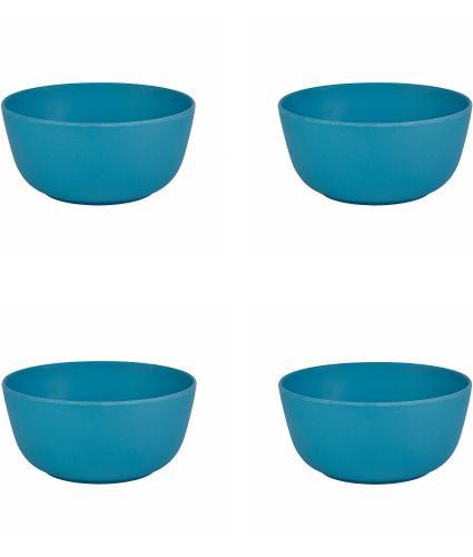 4 Piece Blue Bamboo Bowl Set