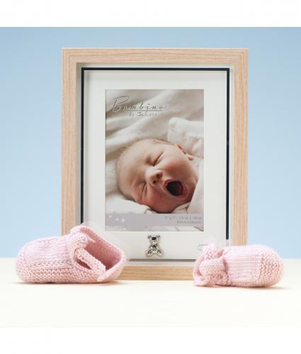 Wood Effect With Teddy Frame, Baby Gift, Cancer Research UK