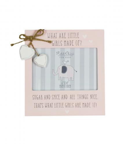 What Are Little Girls Made Off Frame, Baby Gift, Cancer Research UK