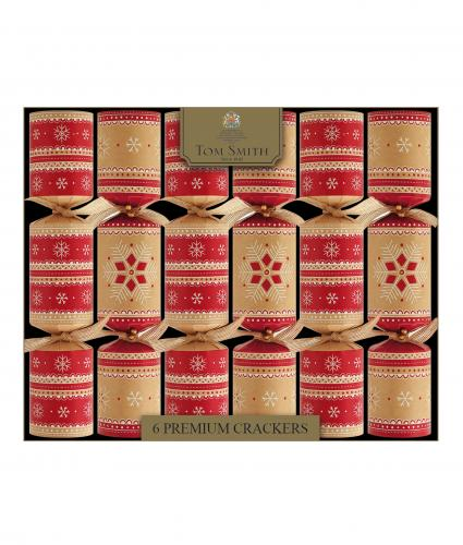 Premium Tom Smith Bauble Ribbon Crackers, Pack of 6