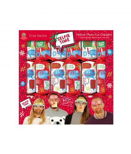 Tom Smith Selfie Photo Fun Crackers, Pack of 6