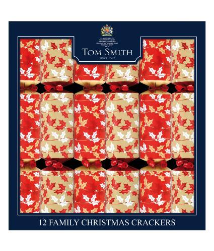 Tom Smith 12 Contemporary Foliage Family Christmas Crackers