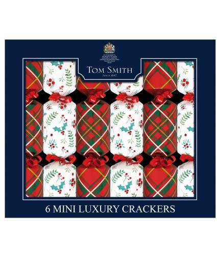 Tom Smith 6 Luxury Tartan Mini Christmas Crackers