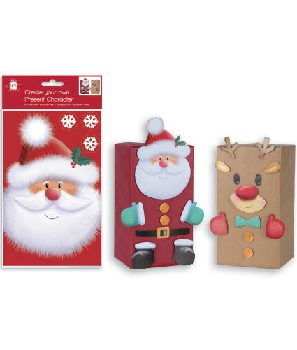 Create Your Own Present Character Pack - Santa & Rudolph