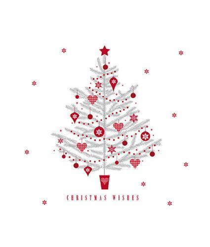 Cancer Research UK, Glittery Tree Bi-lingual Christmas Card