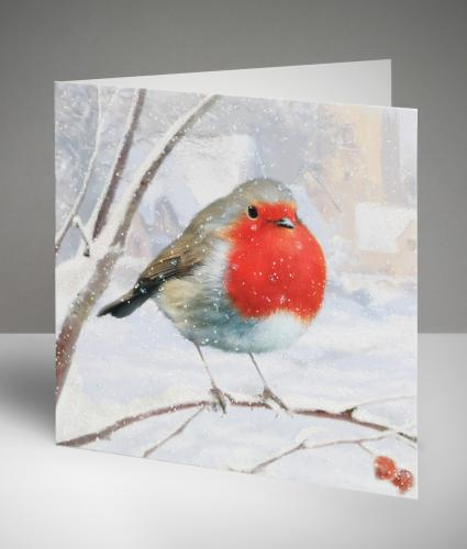 Robin Christmas Cards, Pack of 20