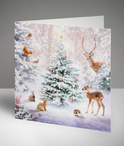 Friendly Forest Christmas Cards, Pack of 10