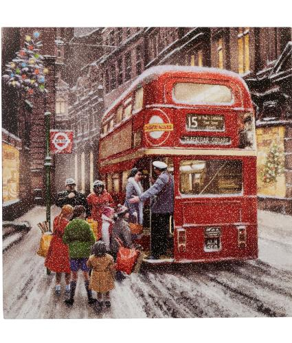 Wintery London Scene Christmas Cards - Pack of 10