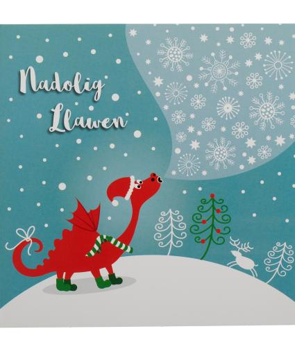 Winter Dragon Welsh Christmas Cards - Pack of 10