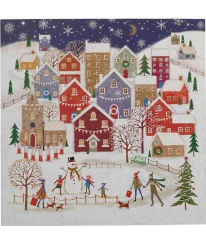Village In Winter Christmas Cards - Pack of 20