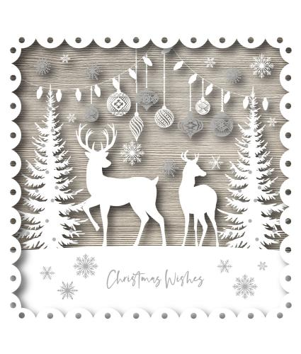 Christmas Deer Christmas Cards - Pack of 10