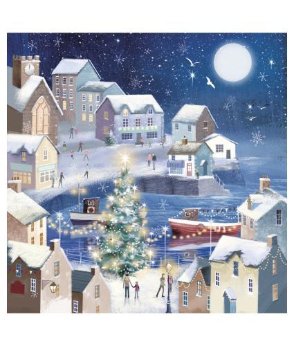 Winter Seaside Christmas Cards - Pack of 10