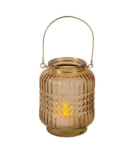 Gold Glass Candle Holder
