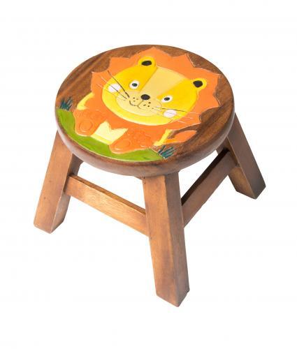 Lion Wooden Stool