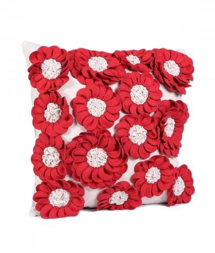 Cancer Research UK, Sadie Red Flower Cushion