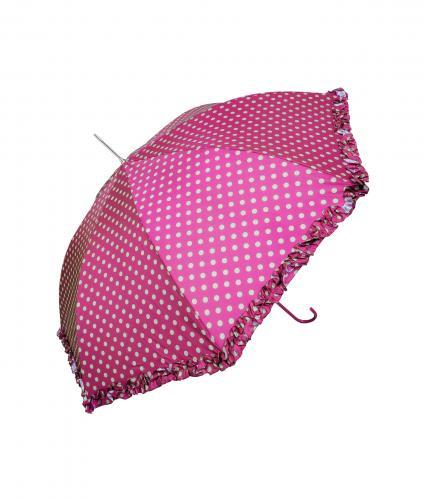 Pink Polka Dot Frill Walker Umbrella, Home & Accessories, Cancer Research UK