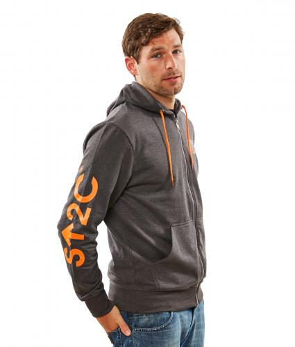 Stand Up To Cancer Men's Grey Hoodie with Orange Trim