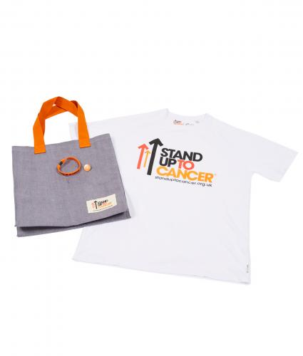 Stand Up To Cancer Men's Supporters Bundle  - White T-Shirt