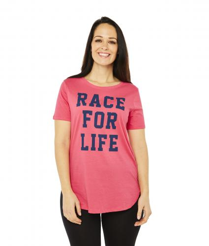 Race For Life  2017 Varsity T-Shirt Cancer Research UK