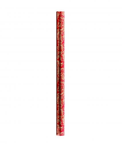 4m Red with Christmas Icons Rolled Gift Wrap