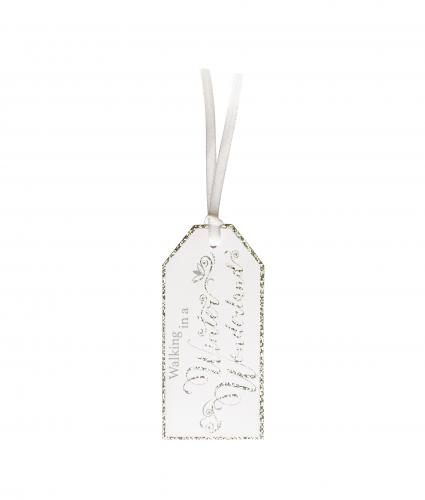 Silver and White Gift Tags, Pack of 6
