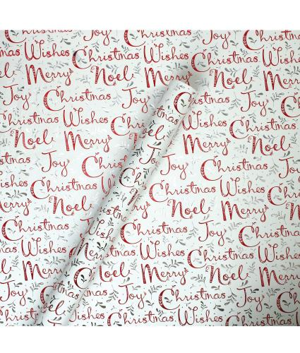 Tom Smith White Nordic Noel Wrapping Paper