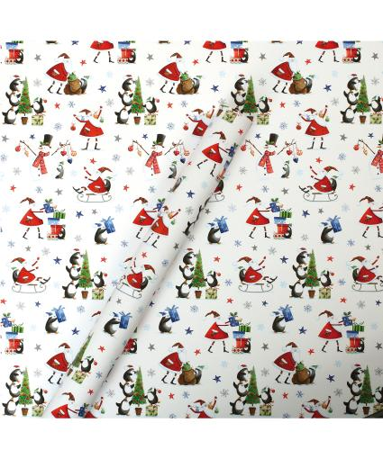 Tom Smith White Whimsical Wrapping Paper