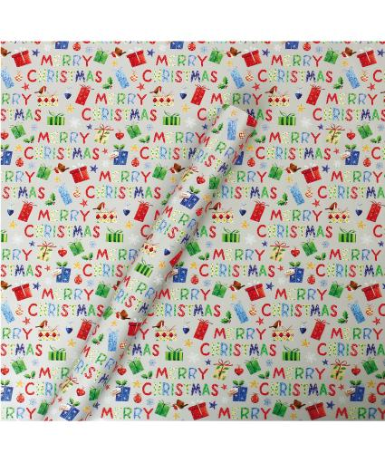 Tom Smith Silver Whimsical Wrapping Paper