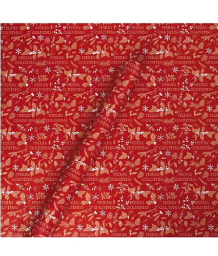 Tom Smith Traditional Festive Red Wrapping Paper