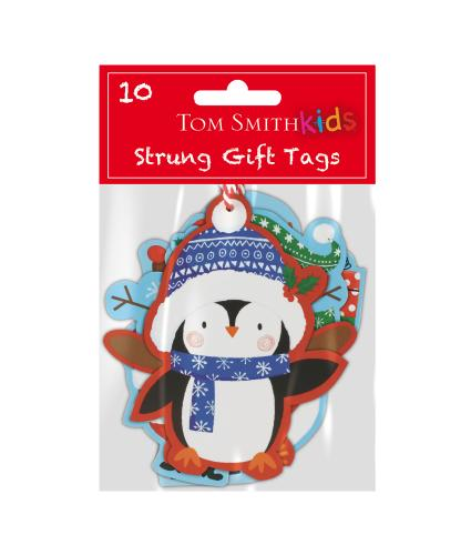 Tom Smith 10 Santa & Friends Gift Tags