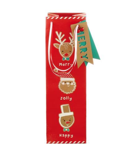 Festive Reindeer Christmas Gift Bag