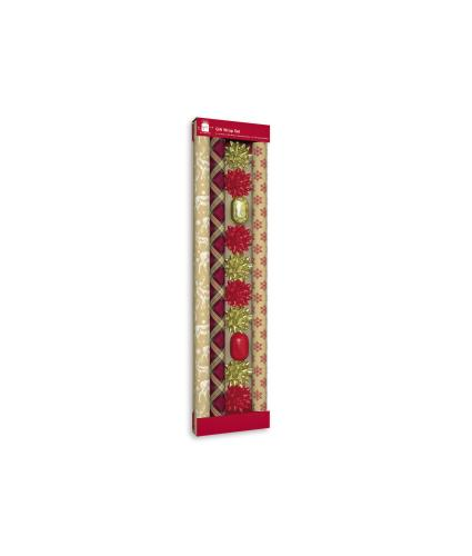 Contemporary and Traditional Christmas Gift Wrap Set