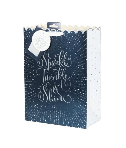 Tom Smith Midnight Celebration Luxury Gift Bag - Large