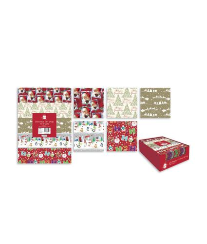 Christmas Gift Wrap, 10 pack
