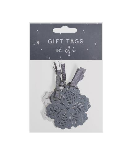 Gold Foil 6 Christmas Gift Tag Selection
