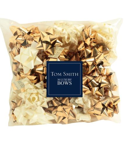 Tom Smith 30 Luxury Gold Wrapping Bows
