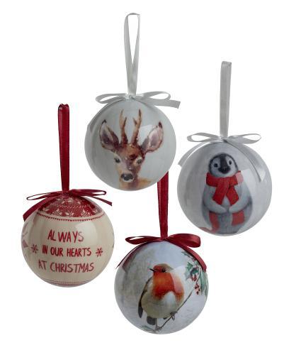 Decoupage Christmas Baubles Bundle