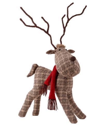 Large Standing Patterned Reindeer