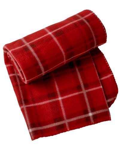 Red Tartan Fleece Throw