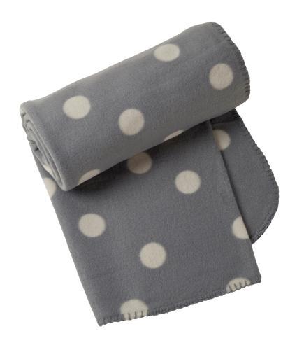 Grey Dotty Fleece Throw