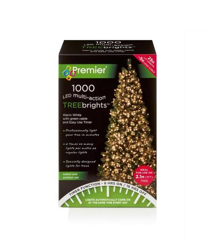 1000 Warm White LED Christmas Tree Lights