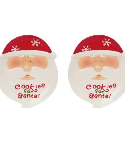 Jolly Santa Cookie Plate Set