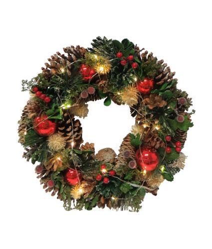 LED Festive Christmas Wreath
