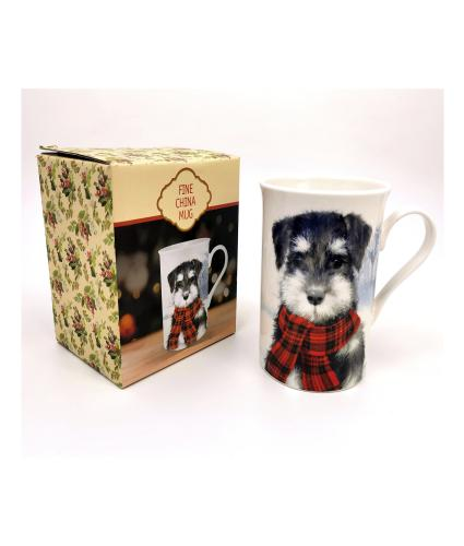 Winter Dog Boxed China Mug