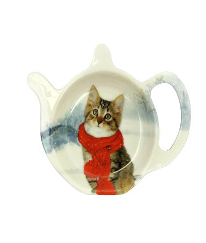 Winter Cat Tea Bag Tidy
