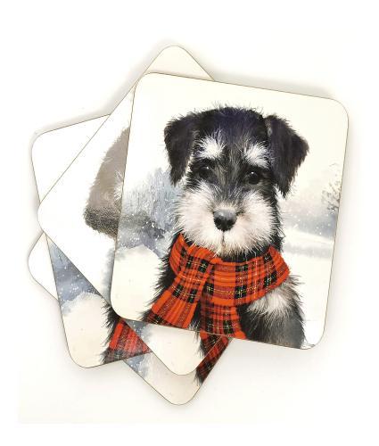 Winter Dog Set of 4 Drinks Coasters