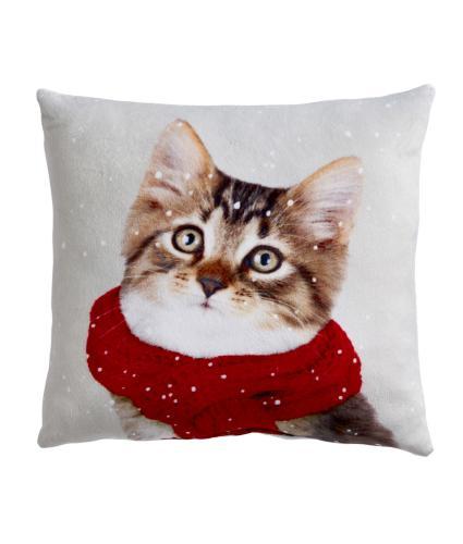 Winter Cat Cushion - Small