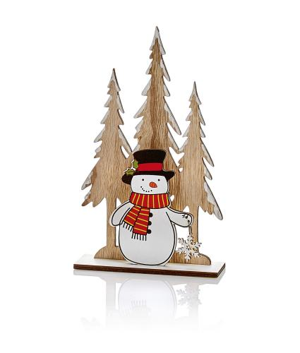 Wooden Table Decoration - Snowman