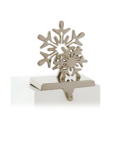 Snowflake Mantlepiece Stocking Hanger 18cm