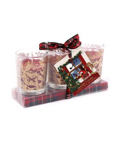 Spiced Apple & Cinnamon Triple Scented Candle Gift Set
